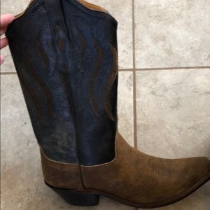 Real leather cowgirl boots